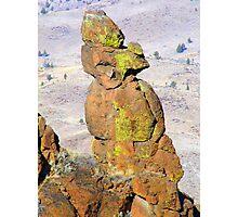 Rock Statute Photographic Print