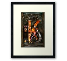 Steampunk - Alphabet - K is for Killer Robots Framed Print