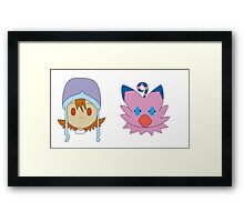 Sora & Biyomon Framed Print