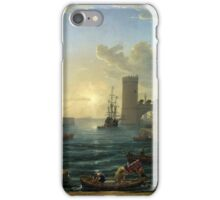 Claude Gellée (Lorrain) – The National Gallery (London) NG14. Seaport with the Embarkation of the Queen of Sheba (1648) iPhone Case/Skin