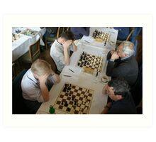 The Chess Tournament, Grange-over-Sands Art Print