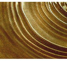 CONCENTRIC GOLD Photographic Print