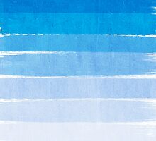 Blue Ombre Brushstroke - Summer, Beach, Ocean, Water, LA Cute trendy, painterly art by charlottewinter