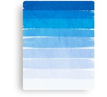 Blue Ombre Brushstroke - Summer, Beach, Ocean, Water, LA Cute trendy, painterly art Canvas Print