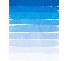 Blue Ombre Brushstroke - Summer, Beach, Ocean, Water, LA Cute trendy, painterly art Photographic Print