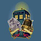 THE CYBERMEN AND THE DALEK by karmadesigner