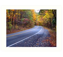 Autumn Scenic Road Art Print