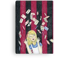 Alice and the pack of cards Canvas Print