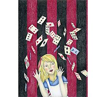 Alice and the pack of cards Photographic Print