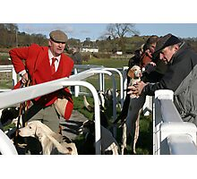 After the ban - Lunesdale Hunt members and supporters at Cartmel Photographic Print