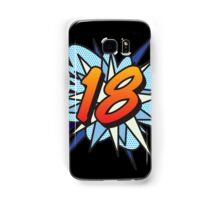 Comic Book 18 blue Samsung Galaxy Case/Skin