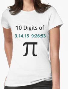 10 Digits of Pi - White Geek T-Shirt for Pi Day 2015  Womens Fitted T-Shirt