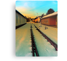The railway station of Aigen | architectural photography Metal Print