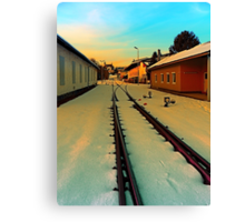 The railway station of Aigen | architectural photography Canvas Print