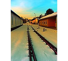 The railway station of Aigen | architectural photography Photographic Print