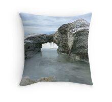 Lake Ice Throw Pillow