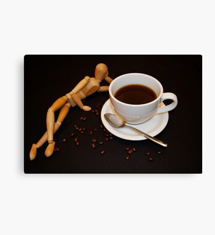 Relaxing Cup Of Coffee Canvas Print