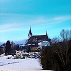 Village skyline in winter time | landscape photography by Patrick Jobst
