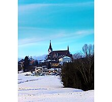 Village skyline in winter time | landscape photography Photographic Print