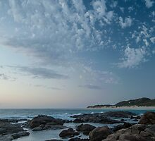 Across the Rivermouth at Dusk by metriognome