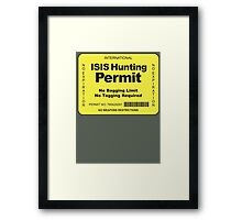 Hunting Permit Framed Print