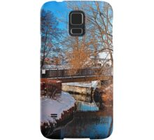 Bridge and river in winter scenery | architectural photography Samsung Galaxy Case/Skin