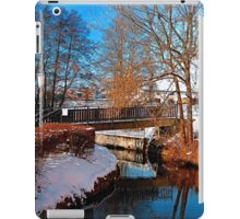 Bridge and river in winter scenery | architectural photography iPad Case/Skin