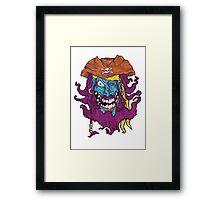 Purple Bearded Pirate  Framed Print
