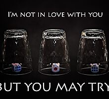 I'm not in love with you but you may try by luckypixel