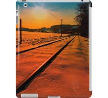 Winter season railroad sunset | landscape photography iPad Case/Skin