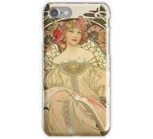 Alphonse Mucha Painting III iPhone Case/Skin