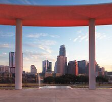 Morning over the Austin Skyline from the Long Center by RobGreebonPhoto