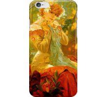 Alphonse Mucha Painting II iPhone Case/Skin