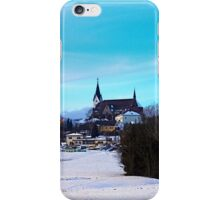 Village skyline in winter time | landscape photography iPhone Case/Skin