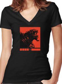 Evolve - Monster Women's Fitted V-Neck T-Shirt
