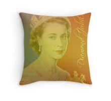 Queen Elizabeth II Diamond Jubilee Throw Pillow