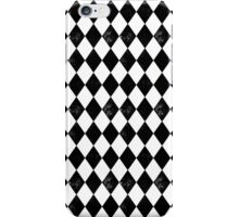 Diamond - Black and White, minimal, monochrome, greyscale, bold graphic pattern  iPhone Case/Skin