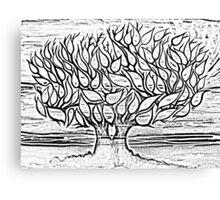 sketch tree Canvas Print