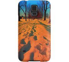 Winter avenue trail at sundown | landscape photography Samsung Galaxy Case/Skin