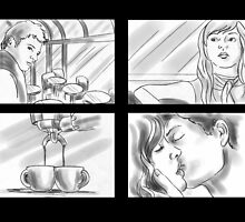 coffee storyboards by Liesl Yvette Wilson