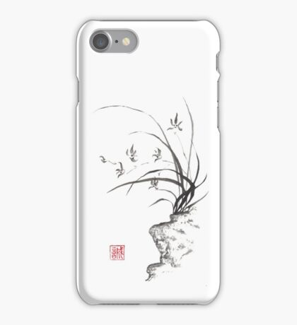 Dancing on the edge sumi-e painting  iPhone Case/Skin