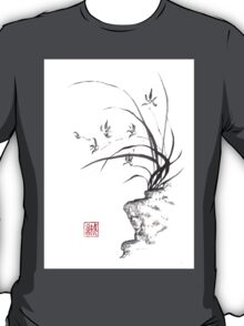 Dancing on the edge sumi-e painting  T-Shirt