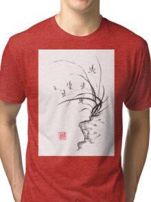 Dancing on the edge sumi-e painting  Tri-blend T-Shirt