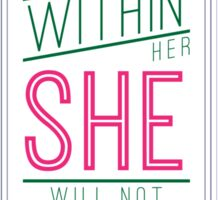 God is Within Her She Will Not Fall Sticker