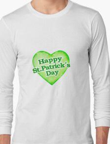 Unique Happy St. Patrick´s Day Design Long Sleeve T-Shirt