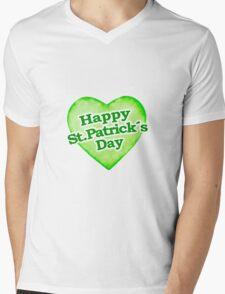 Unique Happy St. Patrick´s Day Design Mens V-Neck T-Shirt