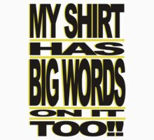 BIG WORDS BLK-YELLOW T-Shirt