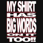 BIG WORDS WHT-RED by ROLO