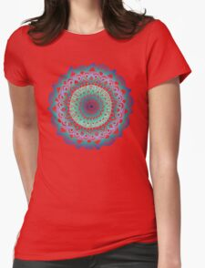 Deep Forest Flower Womens Fitted T-Shirt