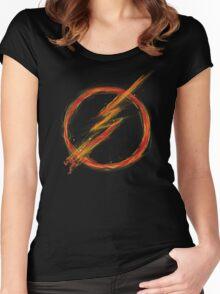 speed lightning Women's Fitted Scoop T-Shirt